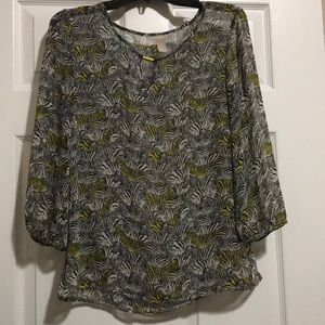Banana Republic zebra sheer blouse size M